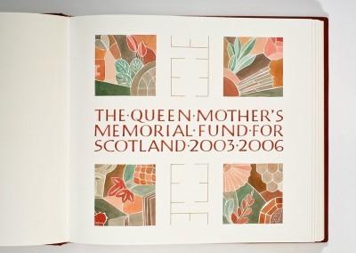 Queen Mother's Memorial Fund Book
