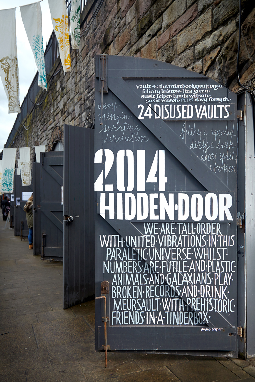 Hidden Door festival inside of door & walls | Susie Leiper
