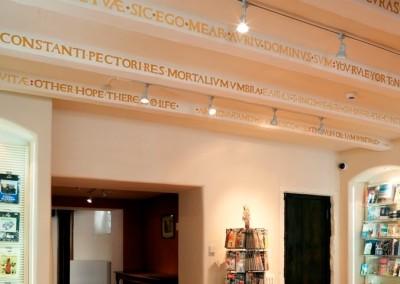 Museum of Edinburgh: shop beams