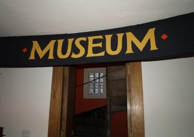 Museum of Edinburgh: reception signage